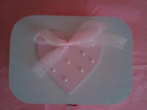 Caja corazón perlas
